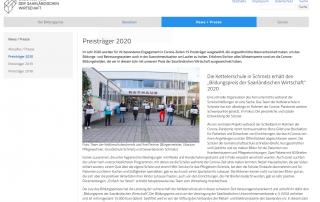 Bildungspreis der saarländischen Wirtschaft 2020